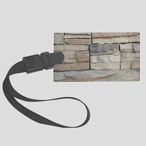 stone rock veneer Large Luggage Tag