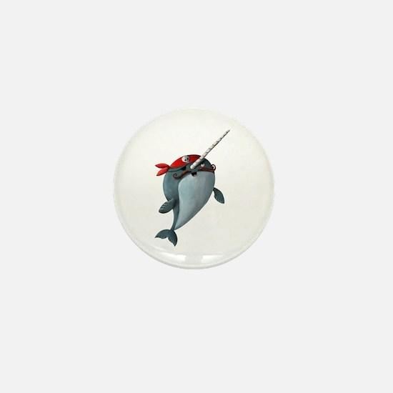 Pirate Narwhals Mini Button