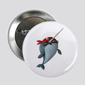 "Pirate Narwhals 2.25"" Button"