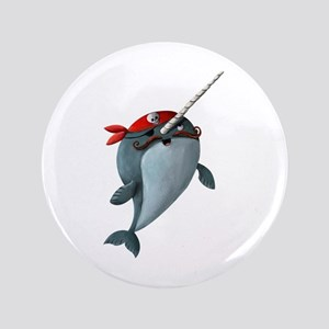 "Pirate Narwhals 3.5"" Button"