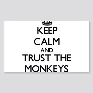 Keep calm and Trust the Monkeys Sticker