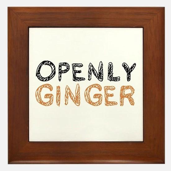 'Openly Ginger' Framed Tile