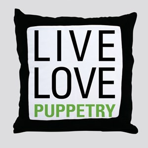 Puppetry Throw Pillow