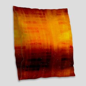 Orange Night Sky Burlap Throw Pillow