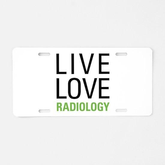 Radiology Aluminum License Plate
