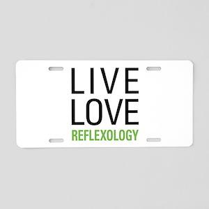 Reflexology Aluminum License Plate