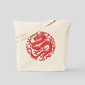 Traditional Chinese Dragon Circle Tote Bag