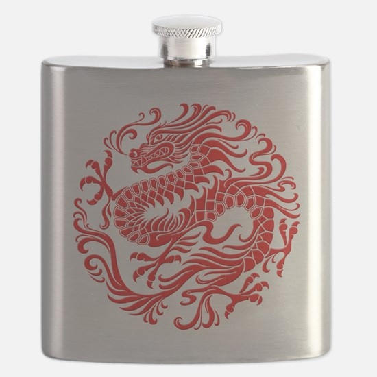 Traditional Chinese Dragon Circle Flask
