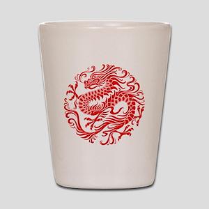 Traditional Chinese Dragon Circle Shot Glass