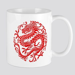 Traditional Chinese Dragon Circle Mugs