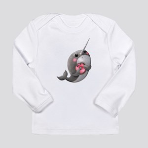 Cute Narwhal with Donut Long Sleeve T-Shirt