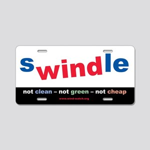 Swindle Aluminum License Plate
