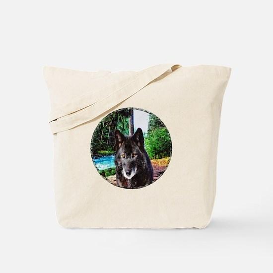 Old Man Wolf Tote Bag