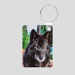 Old Man Wolf Aluminum Photo Keychain
