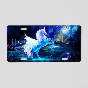 Unicorn Aluminum License Plate