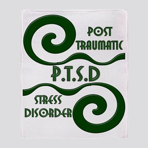 P.T.S.D. BY CANDIDOG Throw Blanket