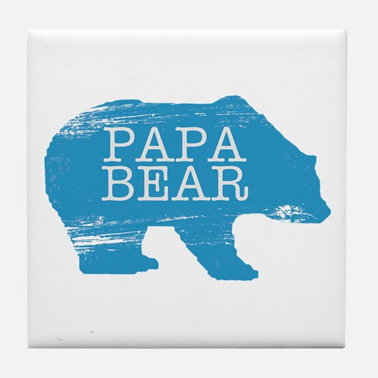 Papa Bear Tile Coaster