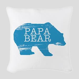 Papa Bear Woven Throw Pillow