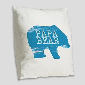 Papa Bear Burlap Throw Pillow