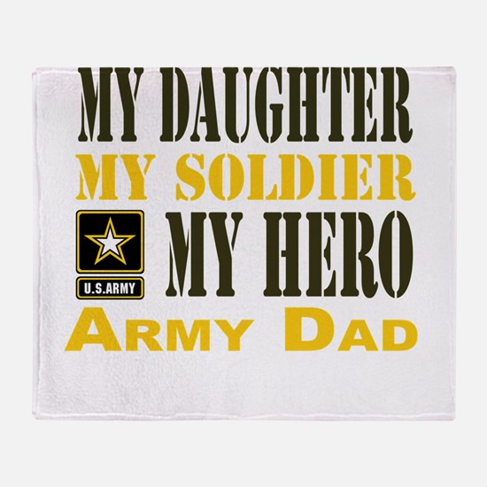 Army Dad Daughter Throw Blanket