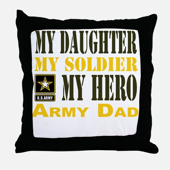 Army Dad Daughter Throw Pillow