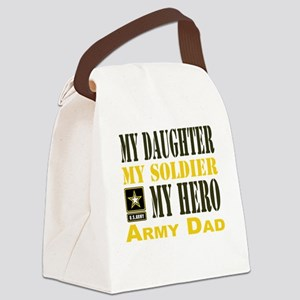 Army Dad Daughter Canvas Lunch Bag
