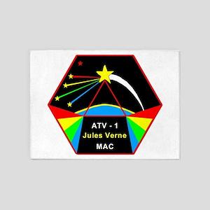 ATV-1 Jules Verne 5'x7'Area Rug
