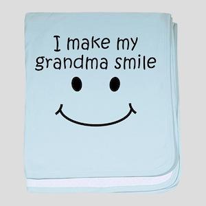 I Make My Grandma Smile baby blanket