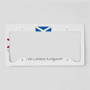 creation of UK flag License Plate Holder