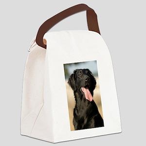 flat coated retriever Canvas Lunch Bag