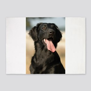 flat coated retriever 5'x7'Area Rug