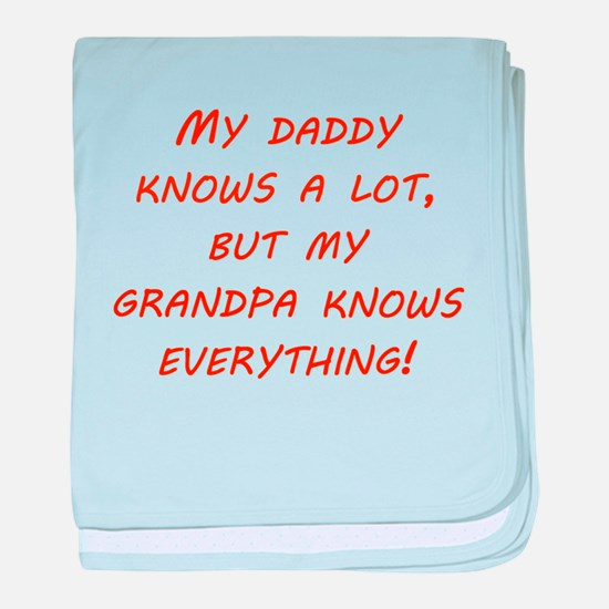 Grandpa Knows Everything baby blanket