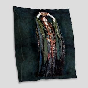 Ellen Terry - Lady Macbeth Burlap Throw Pillow