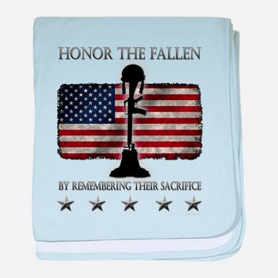 Honor The Fallen baby blanket
