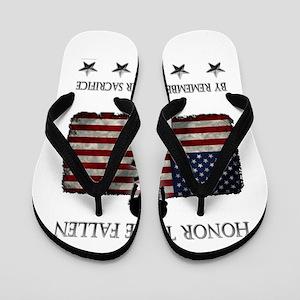 Honor The Fallen Flip Flops