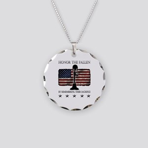 Honor The Fallen Necklace Circle Charm