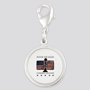Honor The Fallen Silver Round Charm