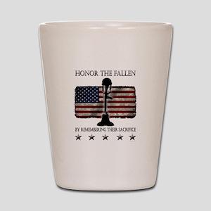 Honor The Fallen Shot Glass