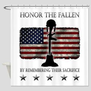 Honor The Fallen Shower Curtain