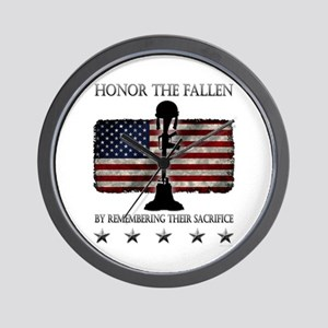 Honor The Fallen Wall Clock