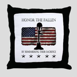 Honor The Fallen Throw Pillow