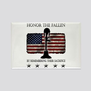 Honor The Fallen Rectangle Magnet