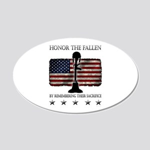 Honor The Fallen 20x12 Oval Wall Decal