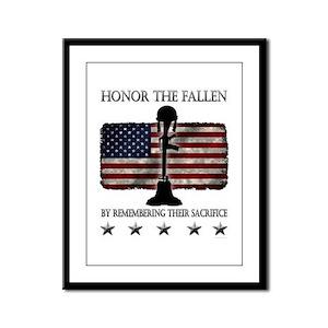 Honor The Fallen Framed Panel Print