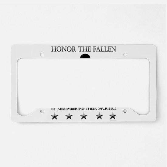 Honor The Fallen License Plate Holder
