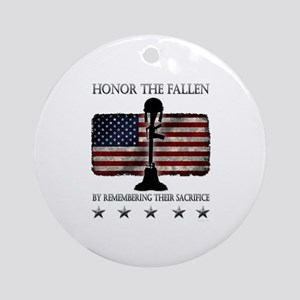 Honor The Fallen Ornament (Round)