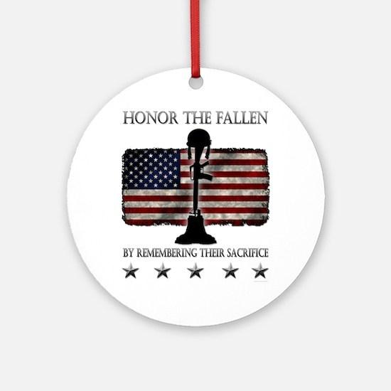Honor The Fallen Ornament (Round)