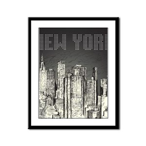 New York City Framed Panel Print