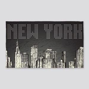 New York City 3'x5' Area Rug