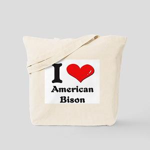 I love american bison Tote Bag